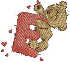 Teddy Bear with letter E