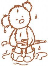 Teddy Bear rainy day