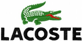 Lacoste logo machine embroidery design