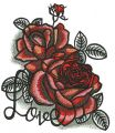 I love roses embroidery design