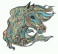 Mosaic horse 8 embroidery design