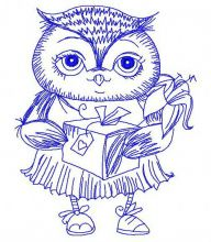 Owl with gift 2