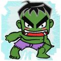 Incredible Hulk chibi embroidery design