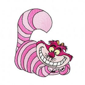 Cheshire cat from Alice in Wonderland embroidery design