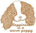 Happiness is a warm puppy free embroidery design