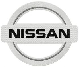 Nissan logo embroidery design