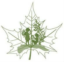 Fairy tale told by maple leaf
