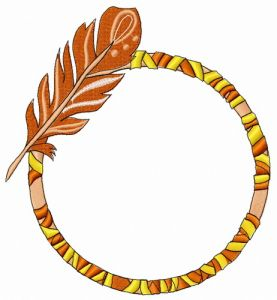 Hoop with feather