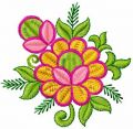 Orange flower embroidery design