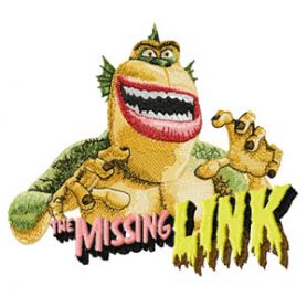 Missing link  embroidery design