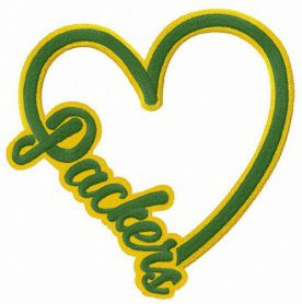 I love Packers machine embroidery design