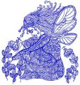 Upset fairy 2 embroidery design