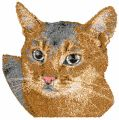 Brown home cat free machine embroidery design