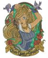 Once upon a dream embroidery design