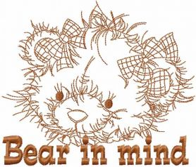 Bear in mind free embroidery design