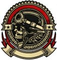Biker skull embroidery design