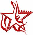 Tribal Star free machine embroidery design