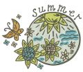 Summer 4 embroidery design