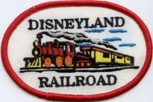 Disneyland Railroad patches