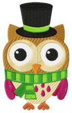 Funny owl in hat