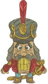Nutcracker machine embroidery design