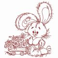 Bunny the florist 2 embroidery design