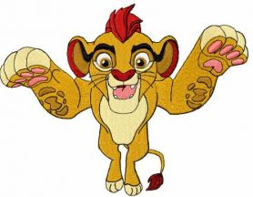 Simba embroidery design 7