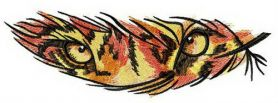Tiger feather machine embroidery design