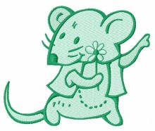 Tiny mouse with flower 2