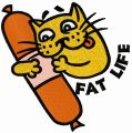 Fat life embroidery design