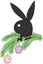 Christmas Playboy Logo