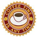 Сoffee time is any time embroidery design
