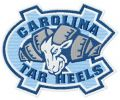 North Carolina Tar Heels alternative logo embroidery design