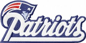 New England Patriot machine embroidery design