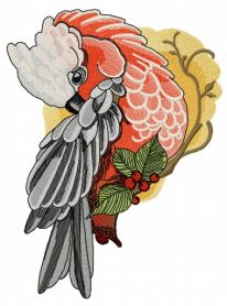 Galah machine embroidery design