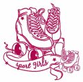 Sport girls 2 embroidery design