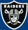 Oakland Raiders logo embroidery design