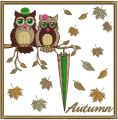 Autumn owls 2 embroidery design