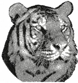 Tiger free photo embroidery design