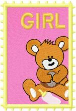 Postage stamp girl 4