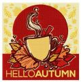 Hello autumn embroidery design