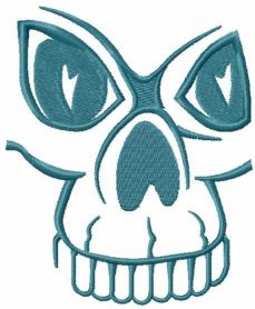 Blue skull free embroidery design