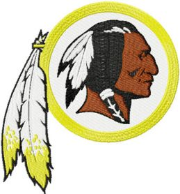 Washington Redskins logo machine embroidery design