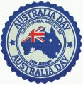 Australia Day embroidery design