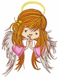 Praying angel 4 machine embroidery design