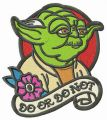 Yoda DO OR DO NOT embroidery design