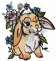 Lop-eared bunny 3 embroidery design