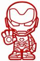 Stubborn Iron Man embroidery design