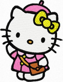 Hello Kitty Weekend Style machine embroidery design