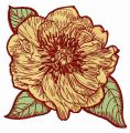Big rose flowers 4 embroidery design
